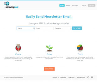 GrowingMail Screenshot